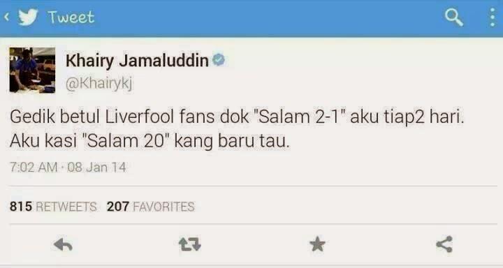 Khairy Jamaluddin kena troll lagi di twitter,Khairy Jamaluddin awesome,Khairy Jamaluddin sokong Man U, menyu loser