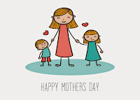 Mom with Kids Mothers Day Card