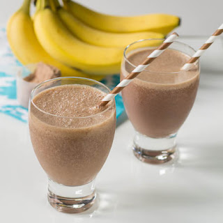 Shake de chocolate e banana light