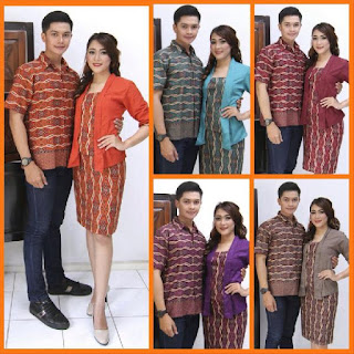 baju batik pasangan model dress motif parang