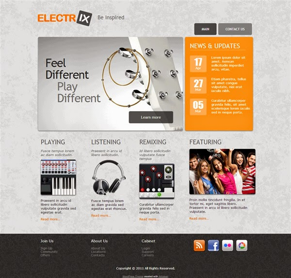 ElecrIX - Free Wordpress Theme