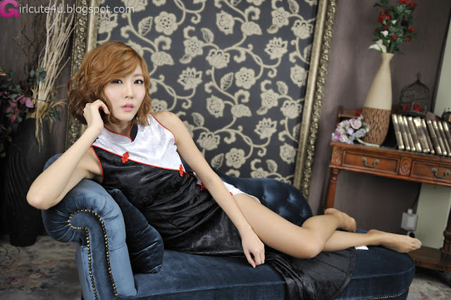 1 Choi Byeol Yee in Modern Cheongsam-very cute asian girl-girlcute4u.blogspot.com