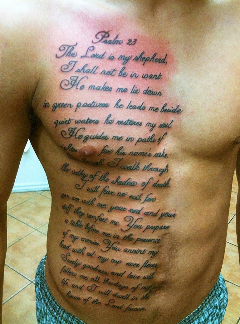 script tattooes