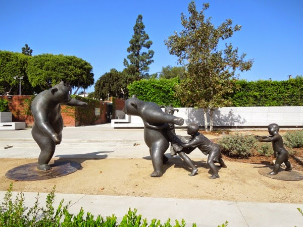 The Game bear sculptures Wang DeLong West Hollywood