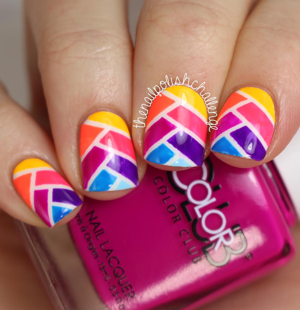 Simply Nailogical Nail Art: Fishtail Braid Nail Art With Color Club Poptastic