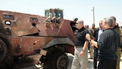 la proxima guerra benjami netanyahu ehud barak vehiculo blindado quemado