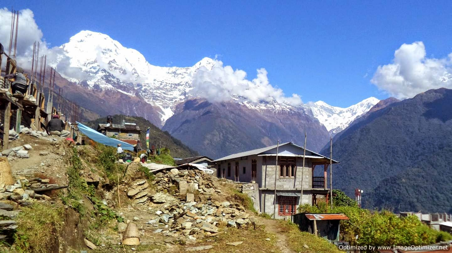 View of the Annapurna Range from Ghandruk