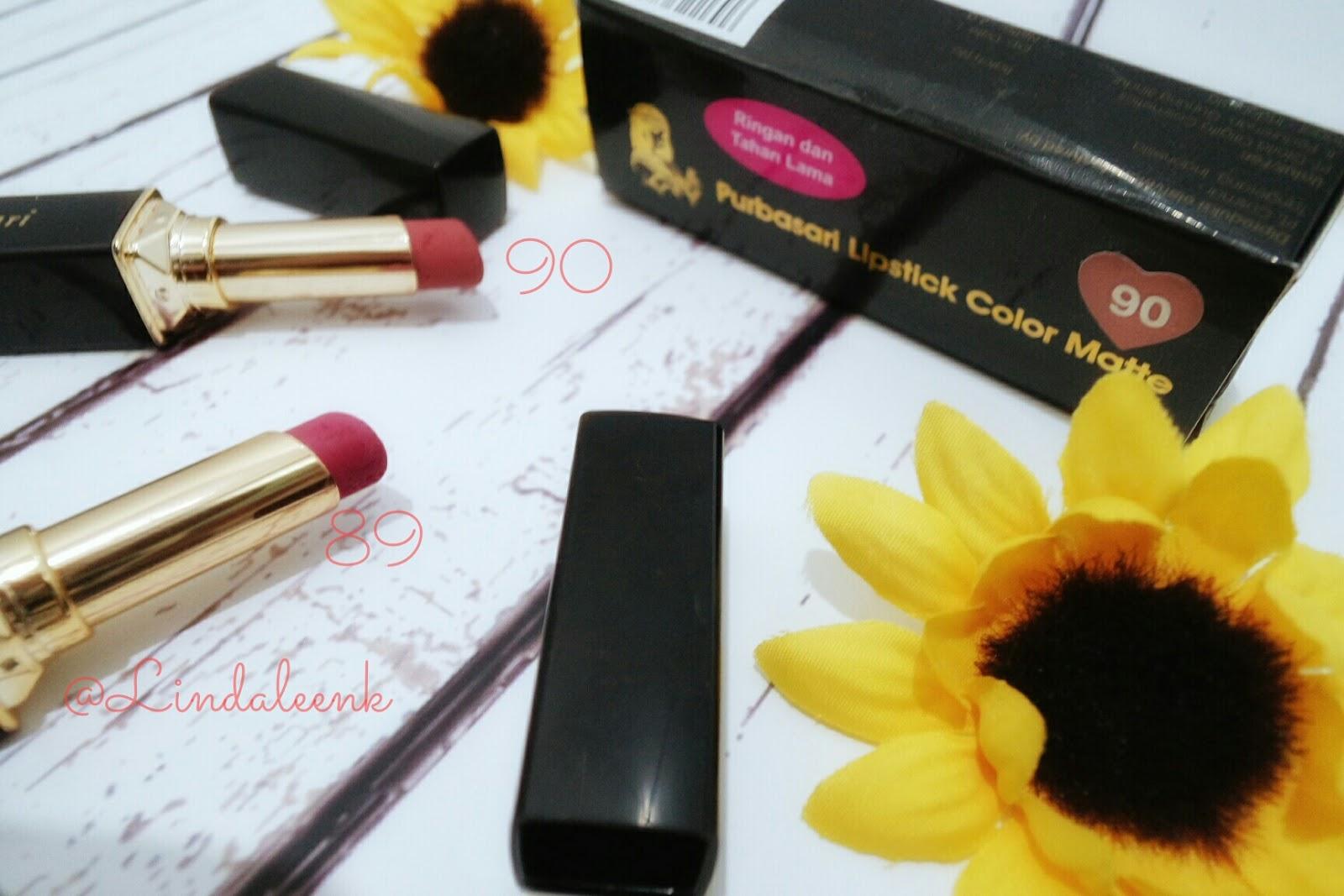 Lingbeauty Purbasari Lipstick Color Matte Lindaleenk Little Part Lipstik Collor 89 Review