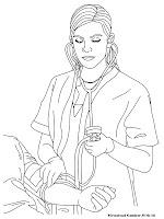 Mewarnai Gambar Dokter Memeriksa Pasien Di Rumah Sakit