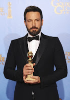 Affleck with his Golden Globe