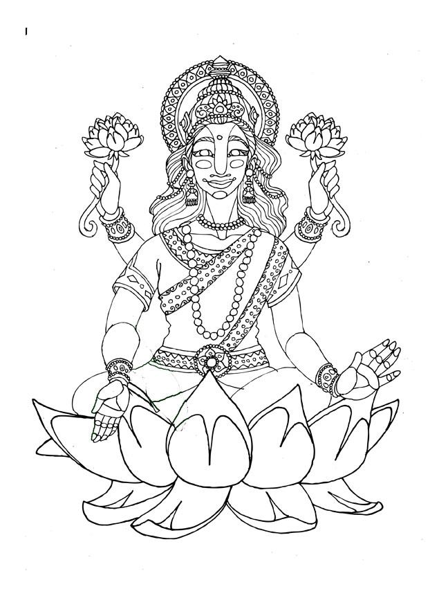 Line Art Ganesha : Line art ganesha