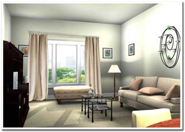 Thiết kế phòng khách đủ ánh sáng
