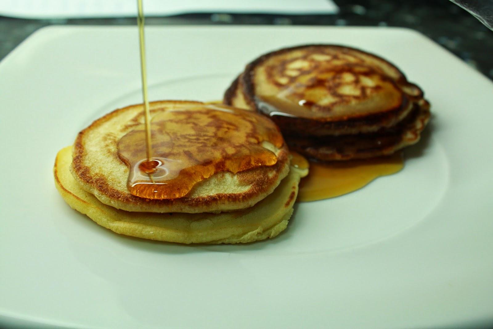 Pancakes con sirope de arce