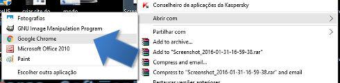 Converter imagem para PDF usando o Google Chrome