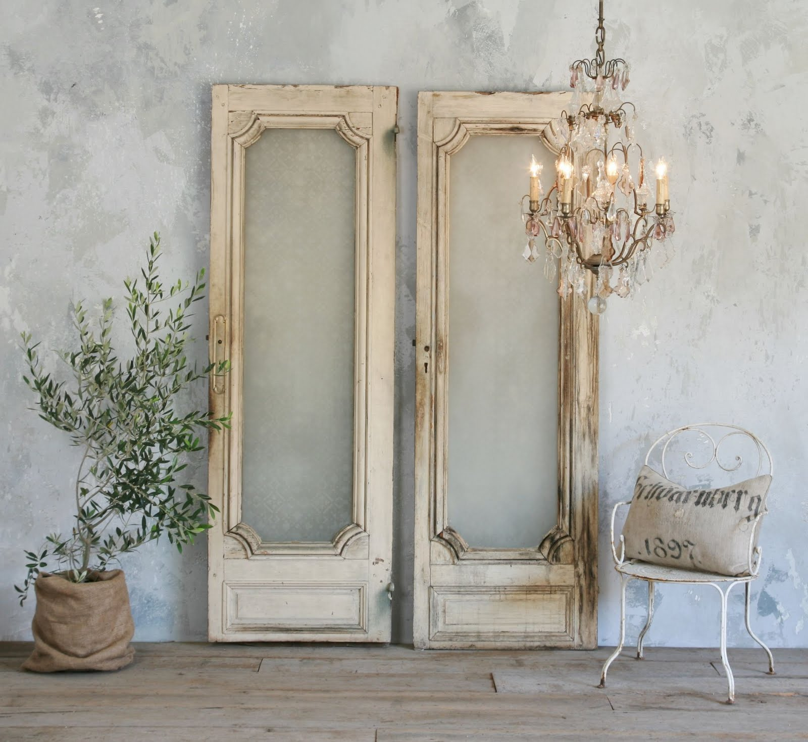 Vintage Doors with Glass