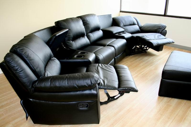 Modern Interior Design Faux Leather Home Theater Seats