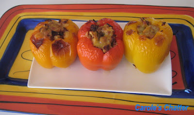 Stuffed capsicum by Carole's Chatter