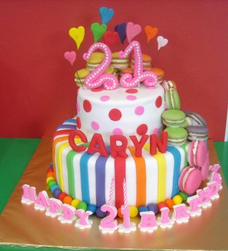 Yochanas Cake Delight Caryns 21st Birthday Cake