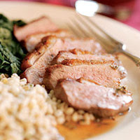 Pan-Roasted Duck Breasts with Sherry, Honey & Thyme Sauce