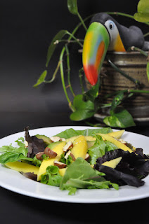 Avocado and Mango Salad with Hazelnuts