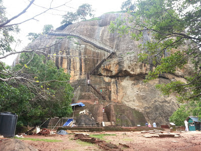 Sigiriya, Sri Lanka Lion Gate, metal ladder, Singh - meaning Lion, enormous, carved granite paws, reptile, dinosaur