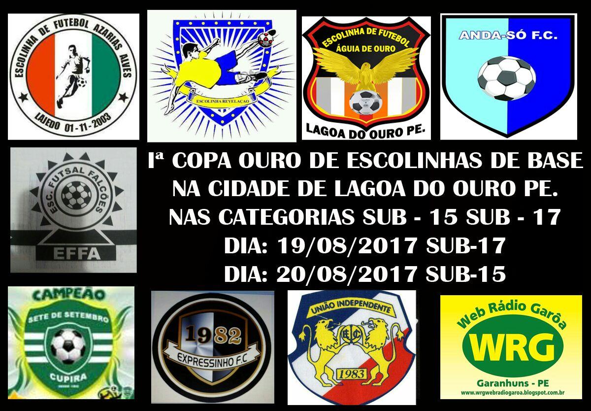 I COPA OURO DE ESCOLINHAS DE BASE SUB 15 E SUB 17