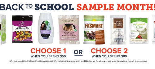 Well.ca Back To School Free Sample Month