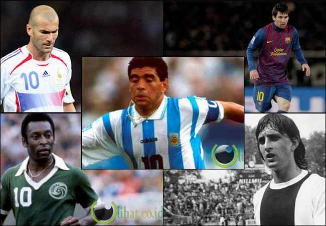 10 Pemain Sepakbola Nomor Punggung 10 Terbaik di Dunia