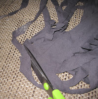 przygotowanie przędzy do dywaników z koszulek