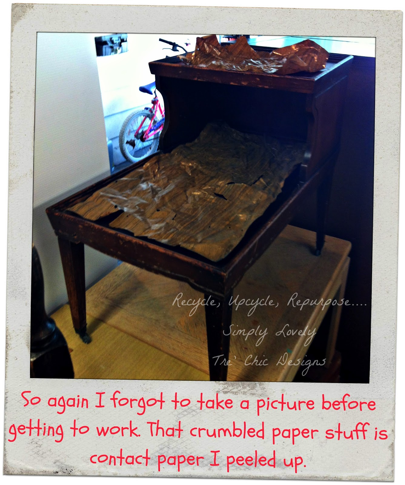 Live Action Before And After Happening Right Here Right Now. I Recently  Acquired 2 Very Interesting Pieces. A Vintage End Table And This Extremely  ...