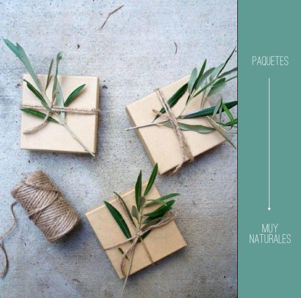 Envolviendo detalles con productos naturales