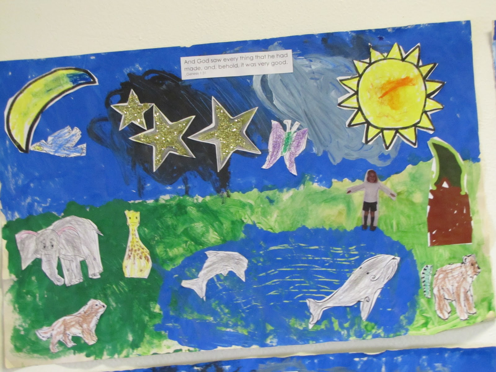 Let 39 s teach something the creation story for Creation mural kids