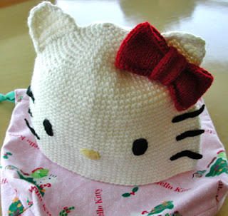 Hello Kitty crochet hat with ears