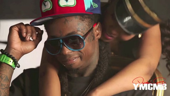 Lil Wayne no vídeo clipe All Aboard