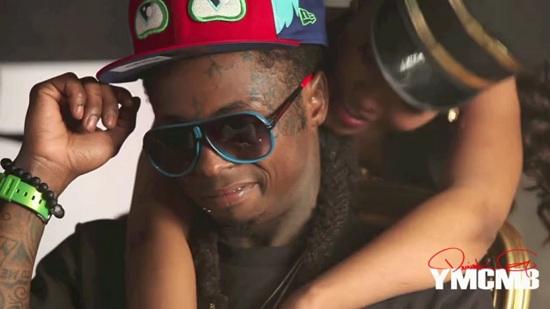 Lil Wayne no vídeo clipe All Aboard
