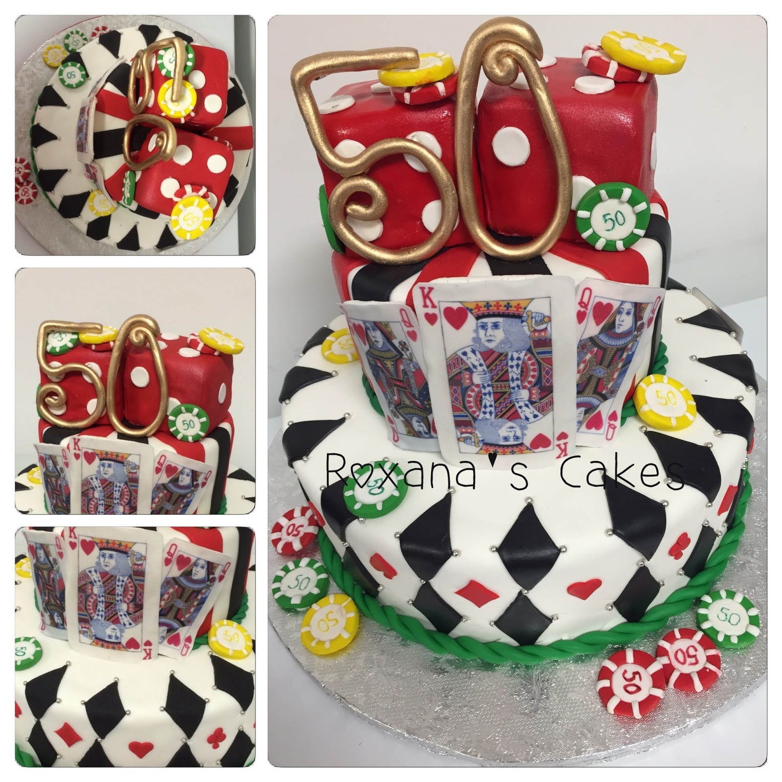 Baking With Roxanas Cakes Birthday Cake Casino Themed