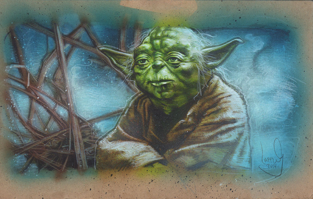 Yoda, Artwork is Copyright © 2014 Jeff Lafferty