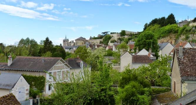 Castillo de Amboise visto desde el de Clos-Lucé.
