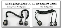 Dual Linked Canon OC-E3 Off Camera Cords