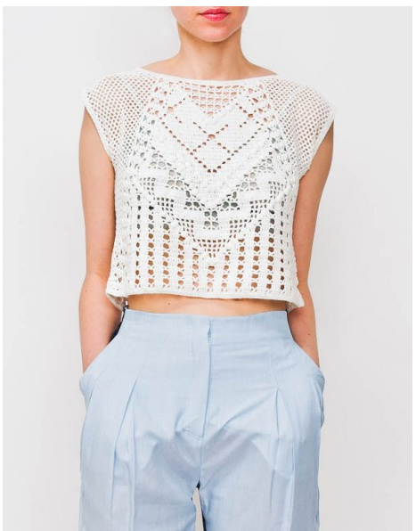 Crochet Crop Top : ... general economy: LAUREN MOFFATT CROCHET CROP TOP / BRAND NEW! / Medium
