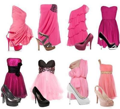 Looks com Vestidos Pink