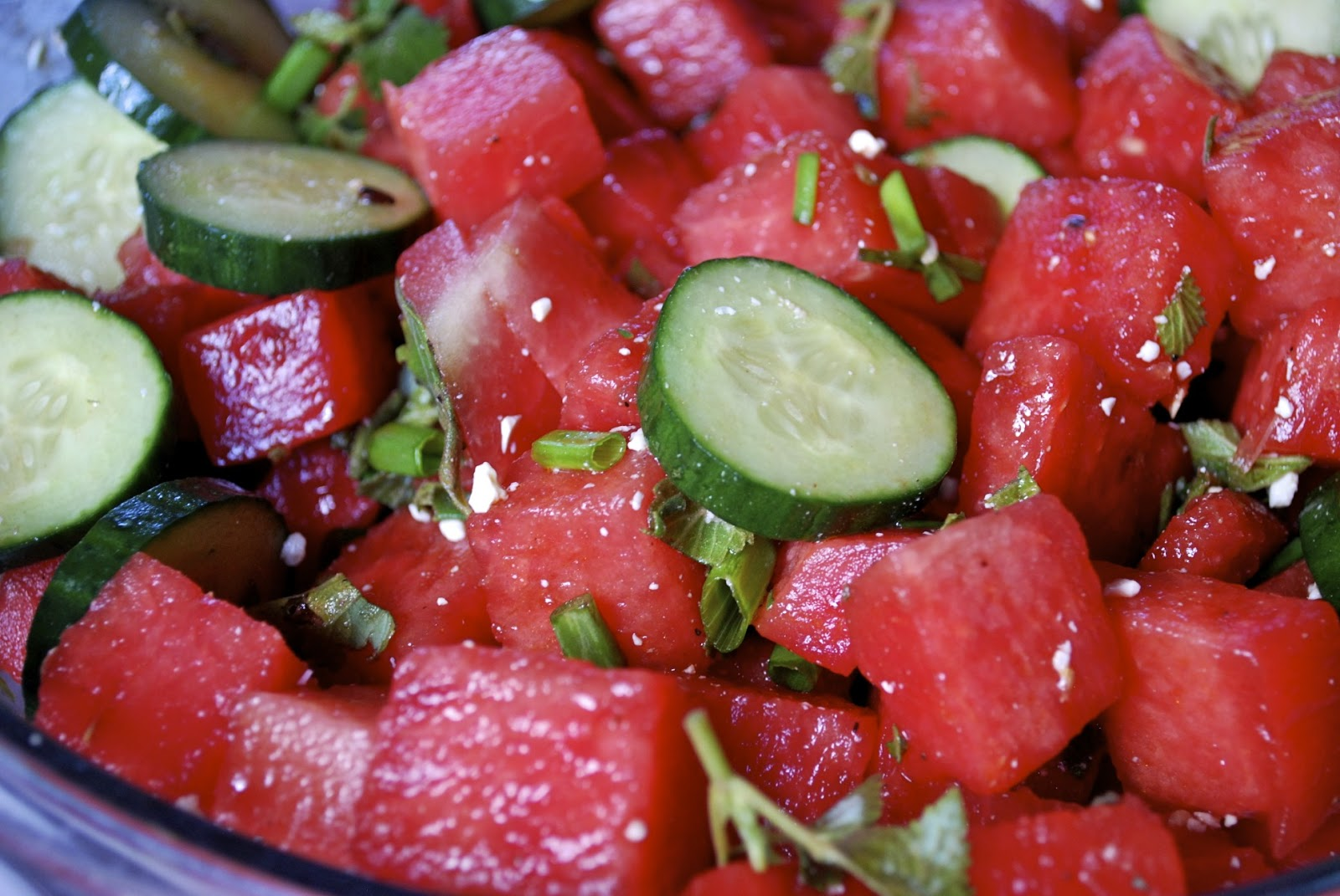 """""""Point-less"""" Meals: Watermelon- Cucumber Salad with Feta ..."""
