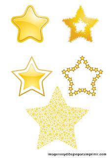 Estrellas pequeñas para imprimir