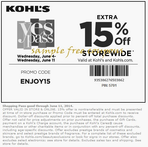 Kohls coupon code 30 percent off