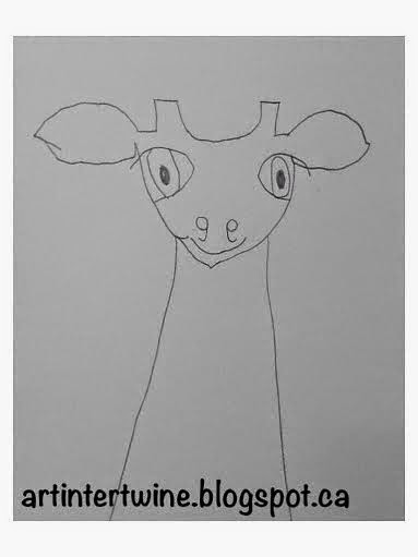 drawing for kids - giraffe