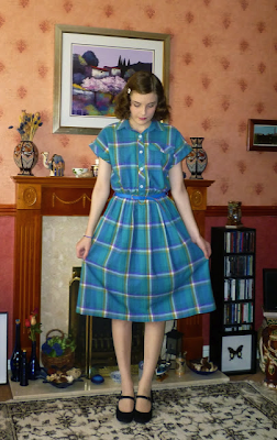 Cute vintage plaid! #vintage #plaid #dress