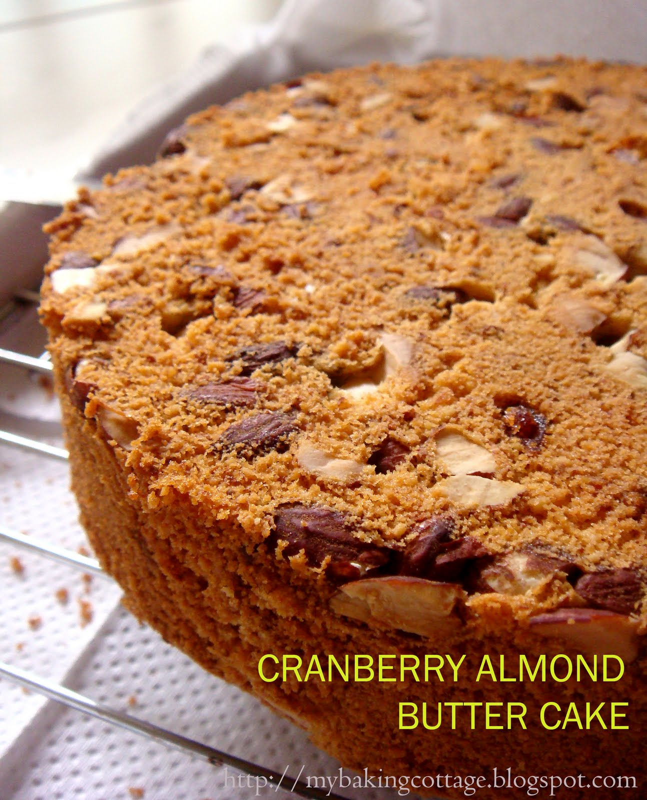 My Baking Cottage: Cranberry Almond Butter Cake