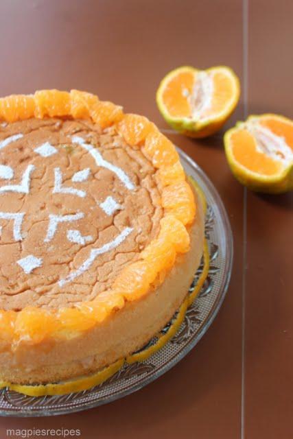 Magpie's Recipes: Orange Layer Cake with Orange Bavarian Cream for ...