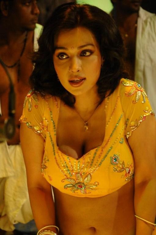 asha saini hot in yellow blouse without sare photos
