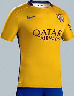 gambar photo Jersey Barcelona away offi musim depan 2015/2016